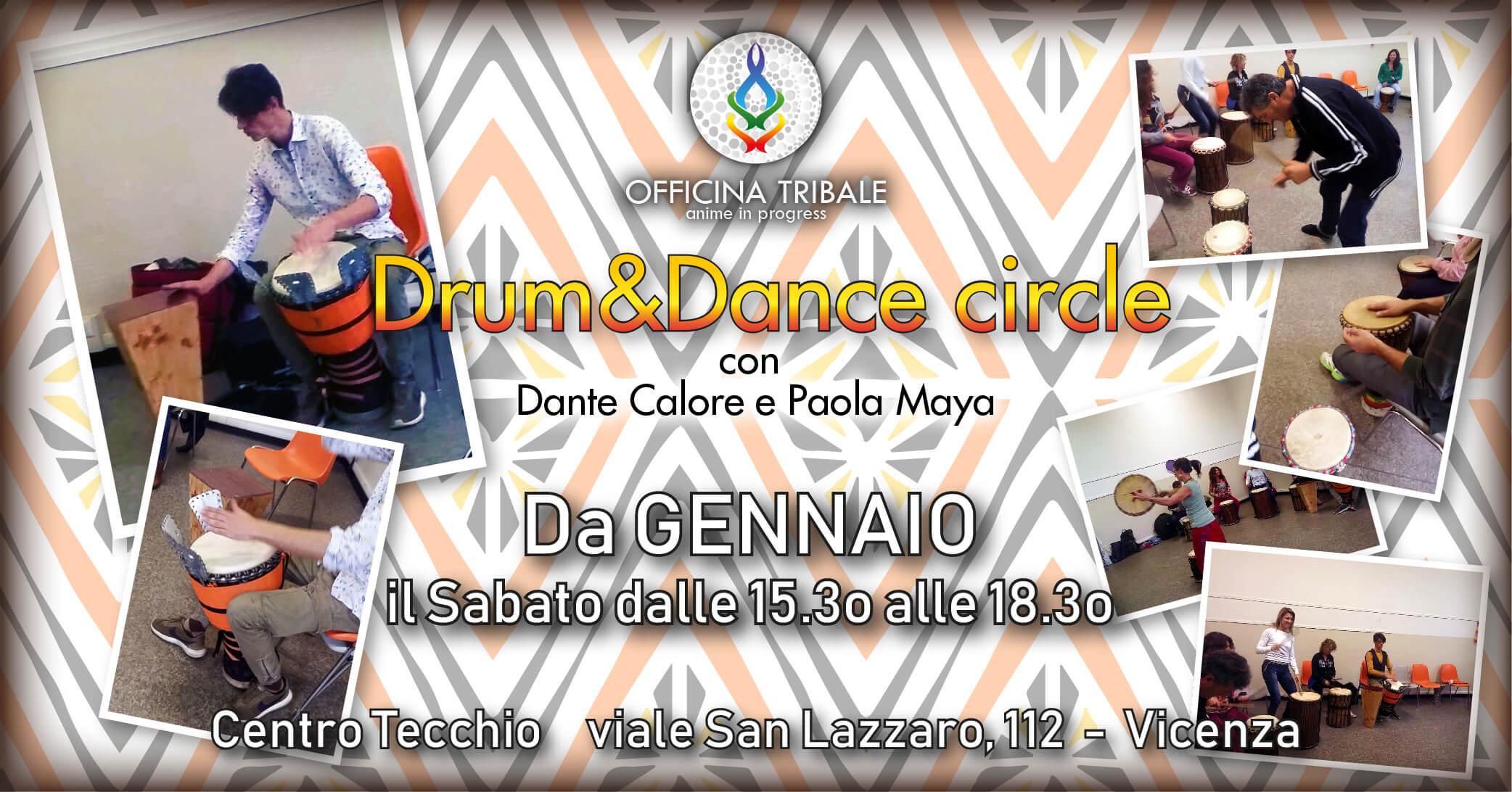 DRUM&DANCE CIRCLE incontri mensili con Dante Calore e Paola Maya