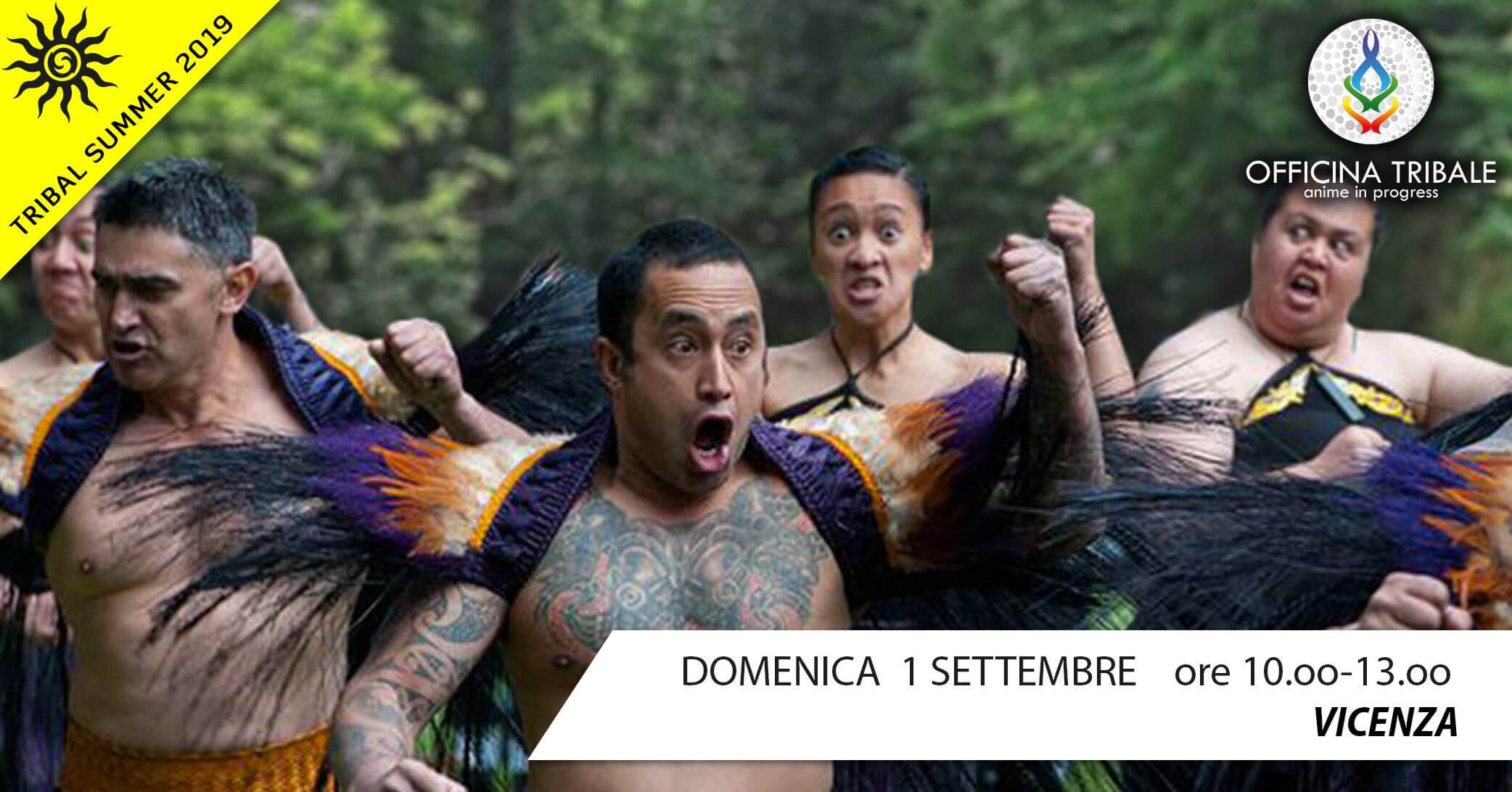 Tribal Summer 2019: HAKA! workshop DOMENICA 1 SETTEMBRE