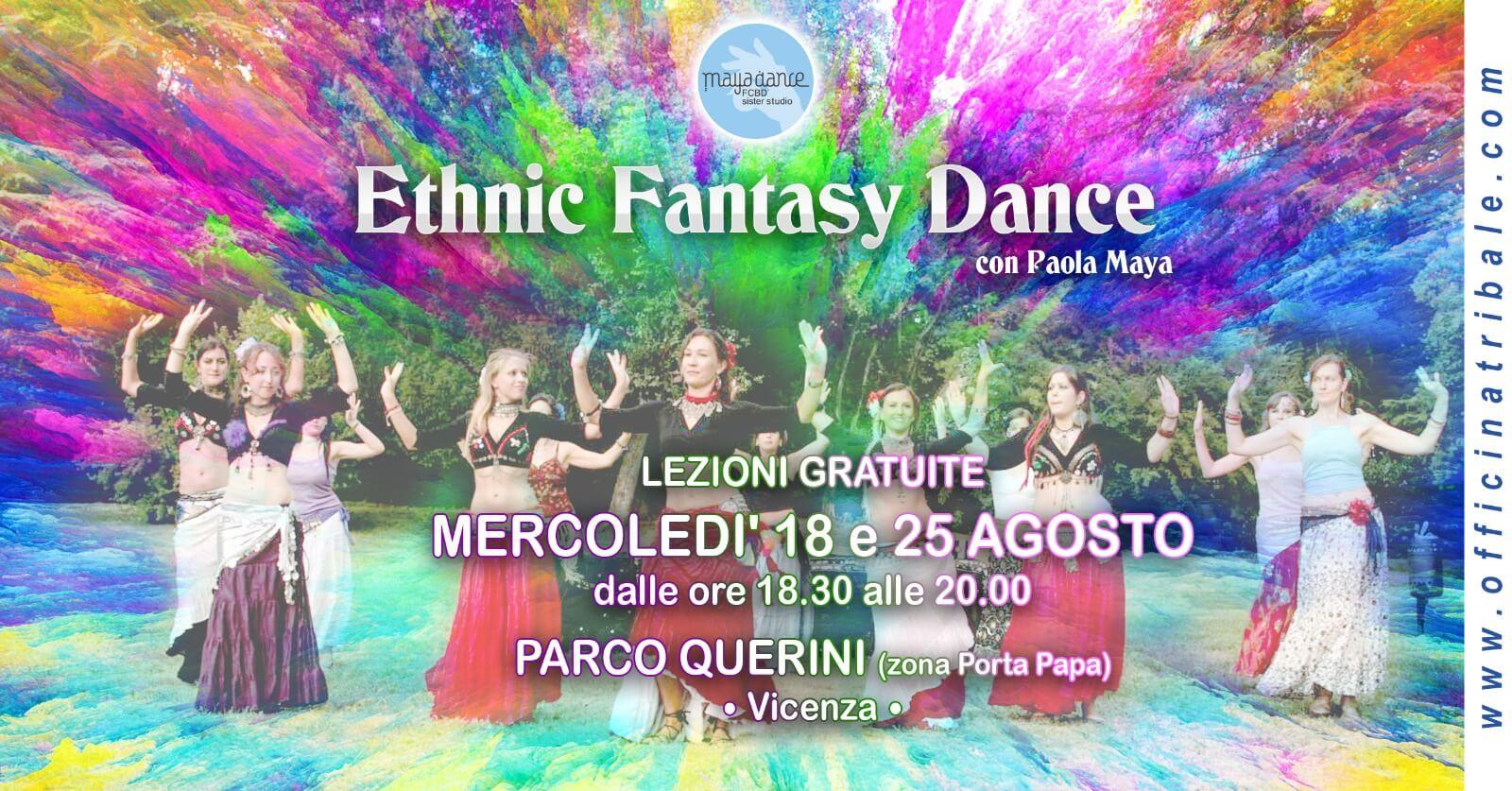 ETHNIC FANTATSY DANCE lezioni gratuite al parco Querini Vicenza